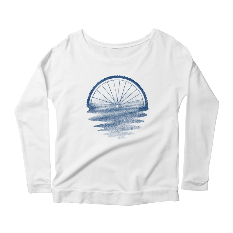 Blue Sunset Mystery Women's Scoop Neck Longsleeve T-Shirt by 38 Sunsets
