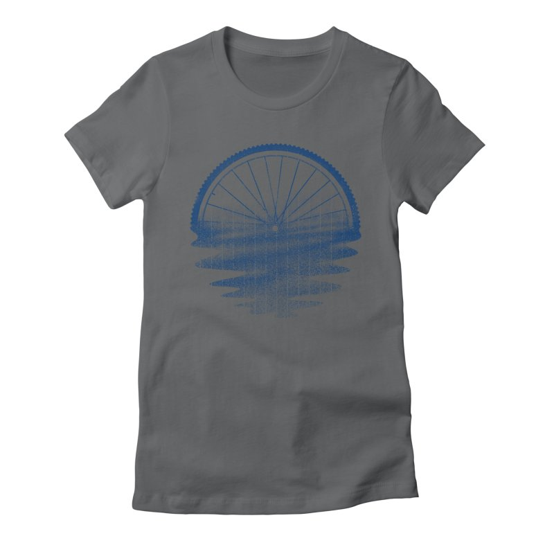 Blue Sunset Mystery Women's Fitted T-Shirt by 38 Sunsets