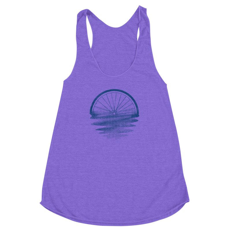 Blue Sunset Mystery Women's Racerback Triblend Tank by 38 Sunsets