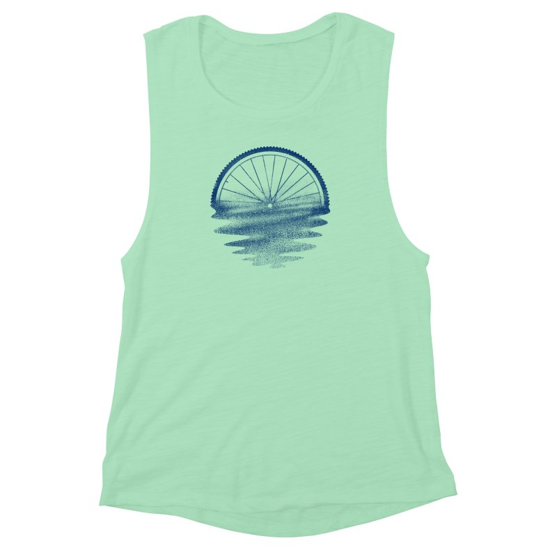 Blue Sunset Mystery Women's Muscle Tank by 38 Sunsets