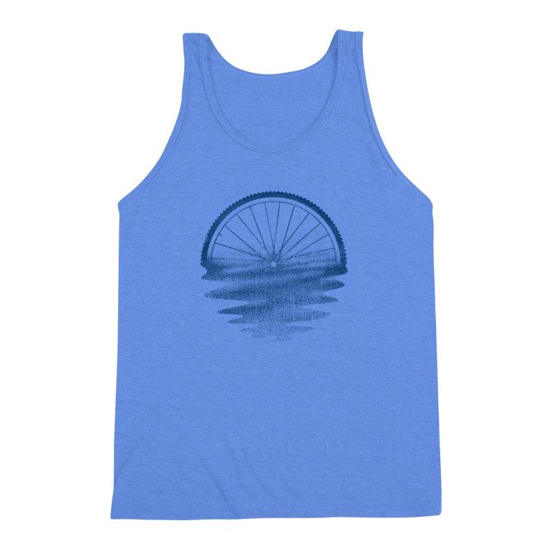 Blue Sunset Mystery Men's Triblend Tank by 38 Sunsets