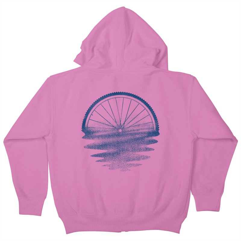 Blue Sunset Mystery Kids Zip-Up Hoody by 38 Sunsets