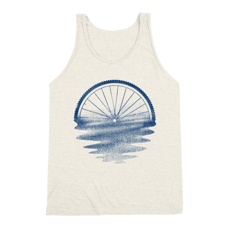 Blue Sunset Mystery Men's Triblend Tank by 38 Sunsets