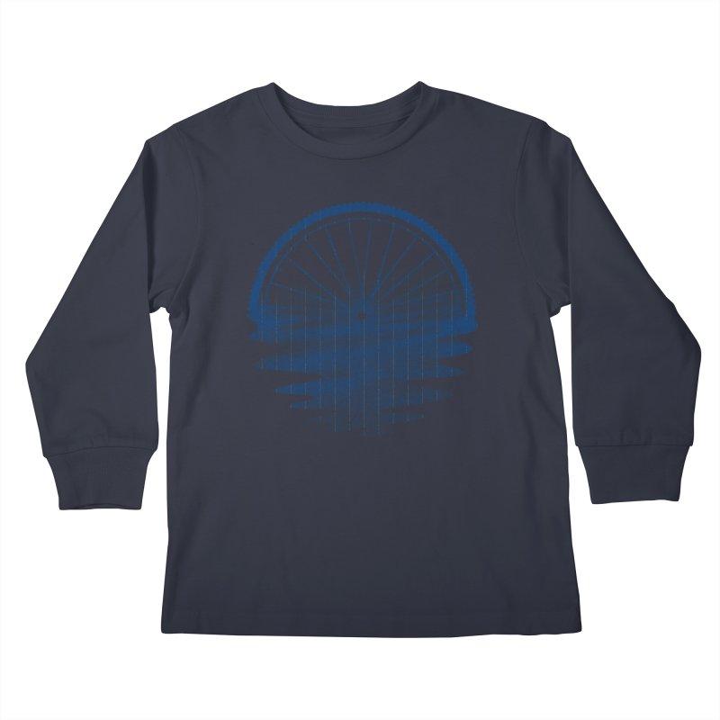 Blue Sunset Mystery Kids Longsleeve T-Shirt by 38 Sunsets