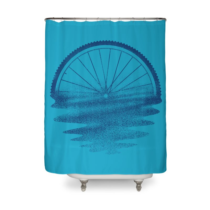 Blue Sunset Mystery Home Shower Curtain by 38 Sunsets