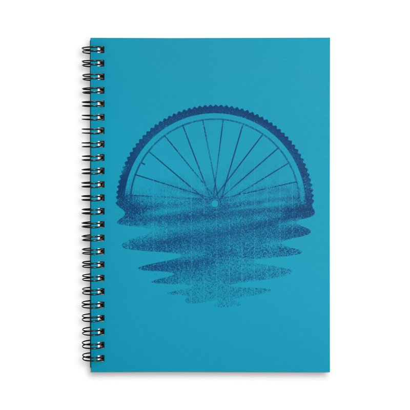 Blue Sunset Mystery Accessories Lined Spiral Notebook by 38 Sunsets