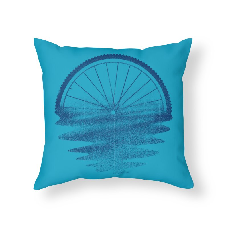 Blue Sunset Mystery Home Throw Pillow by 38 Sunsets