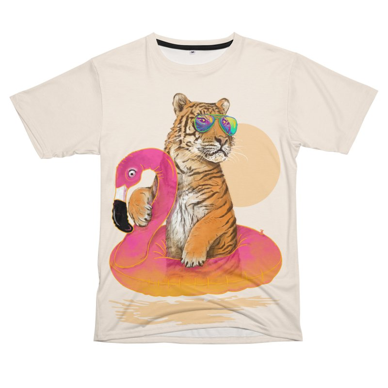 Chillin Flamingo Tiger Men's Cut & Sew by 38 Sunsets