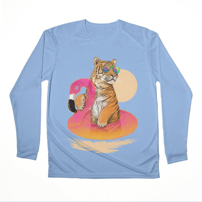 Chillin Flamingo Tiger Men's Longsleeve T-Shirt by 38 Sunsets