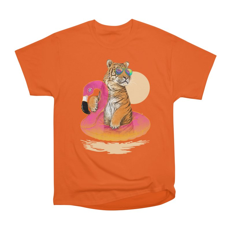 Chillin Flamingo Tiger Women's T-Shirt by 38 Sunsets