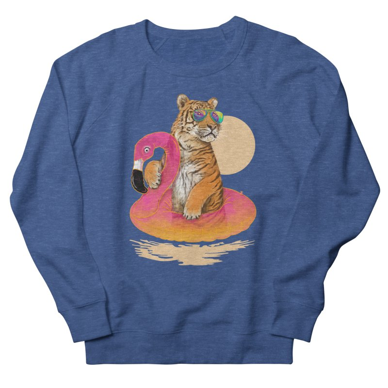 Chillin Flamingo Tiger Men's Sweatshirt by 38 Sunsets