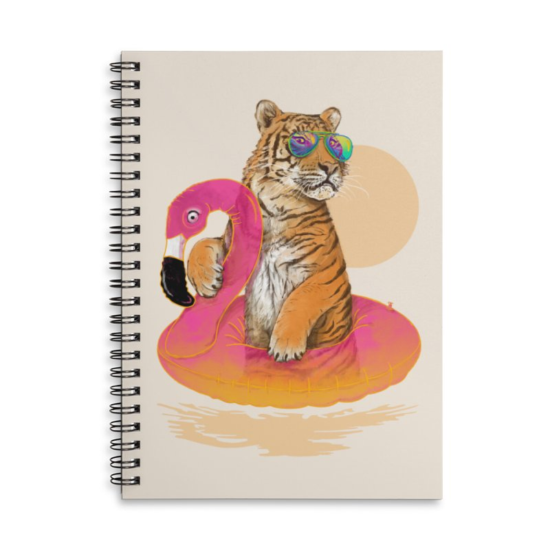 Chillin Flamingo Tiger Accessories Notebook by 38 Sunsets