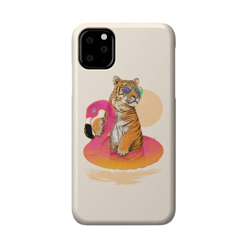 Chillin Flamingo Tiger Accessories Phone Case by 38 Sunsets