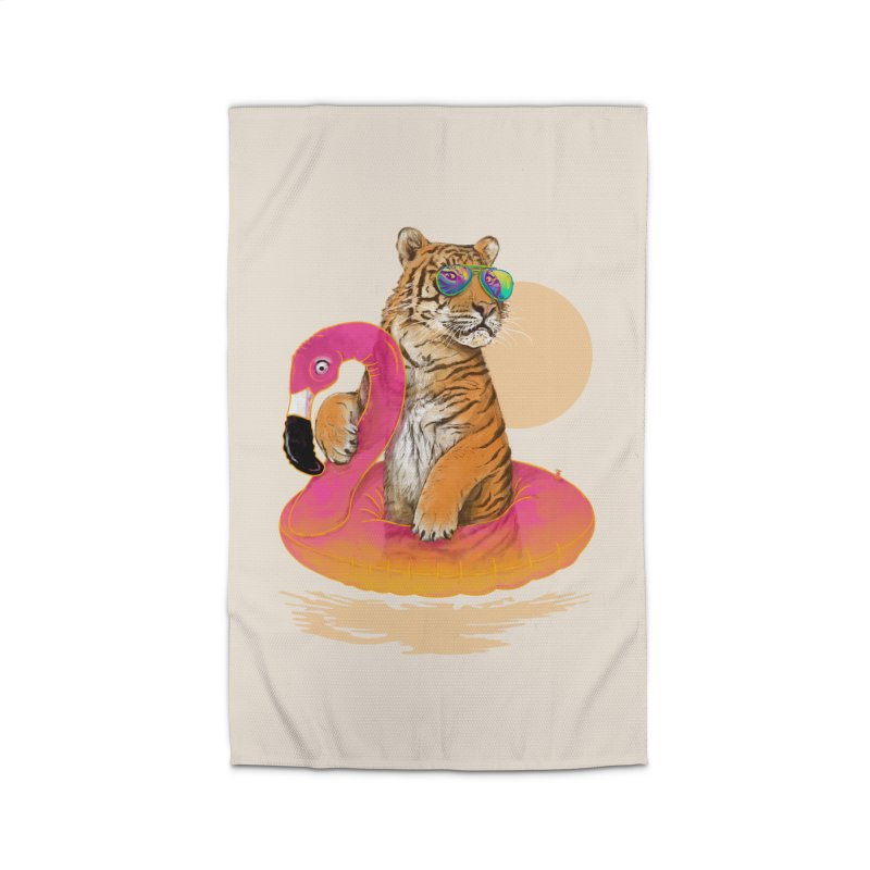 Chillin Flamingo Tiger Home Rug by 38 Sunsets