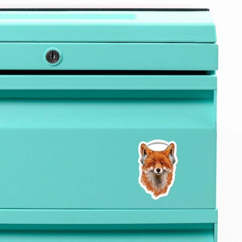The Musical Fox Accessories Magnet by 38 Sunsets