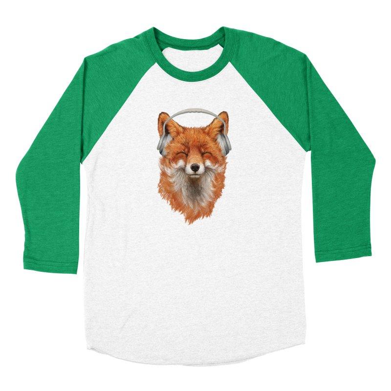 The Musical Fox Women's Baseball Triblend Longsleeve T-Shirt by 38 Sunsets