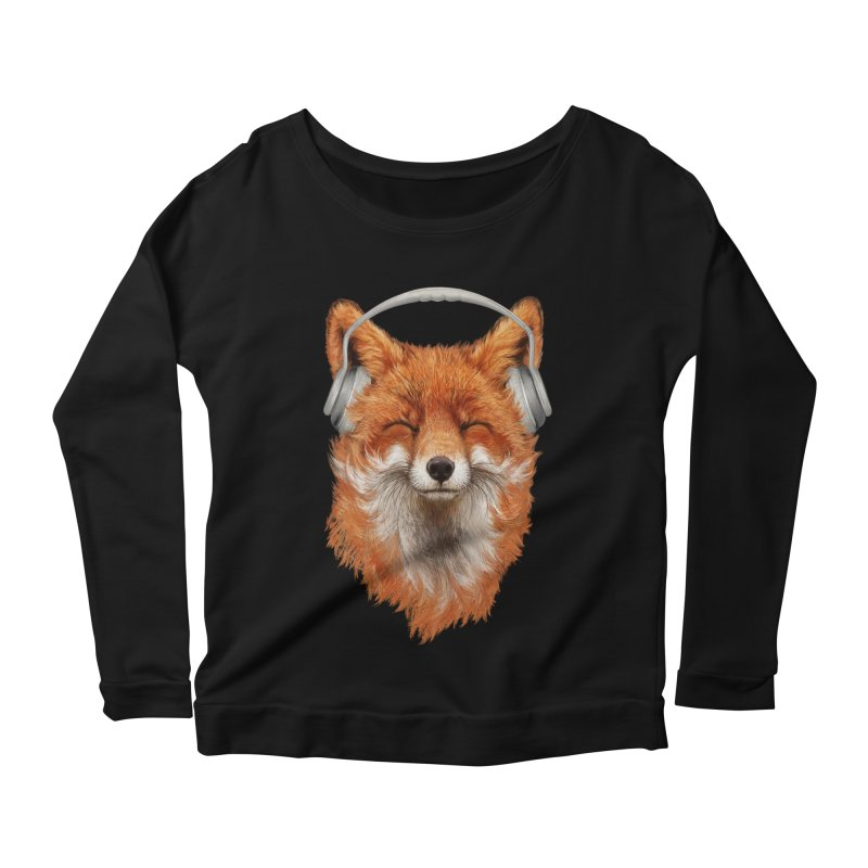 The Musical Fox Women's Scoop Neck Longsleeve T-Shirt by 38 Sunsets