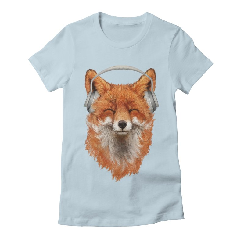 The Musical Fox Women's Fitted T-Shirt by 38 Sunsets