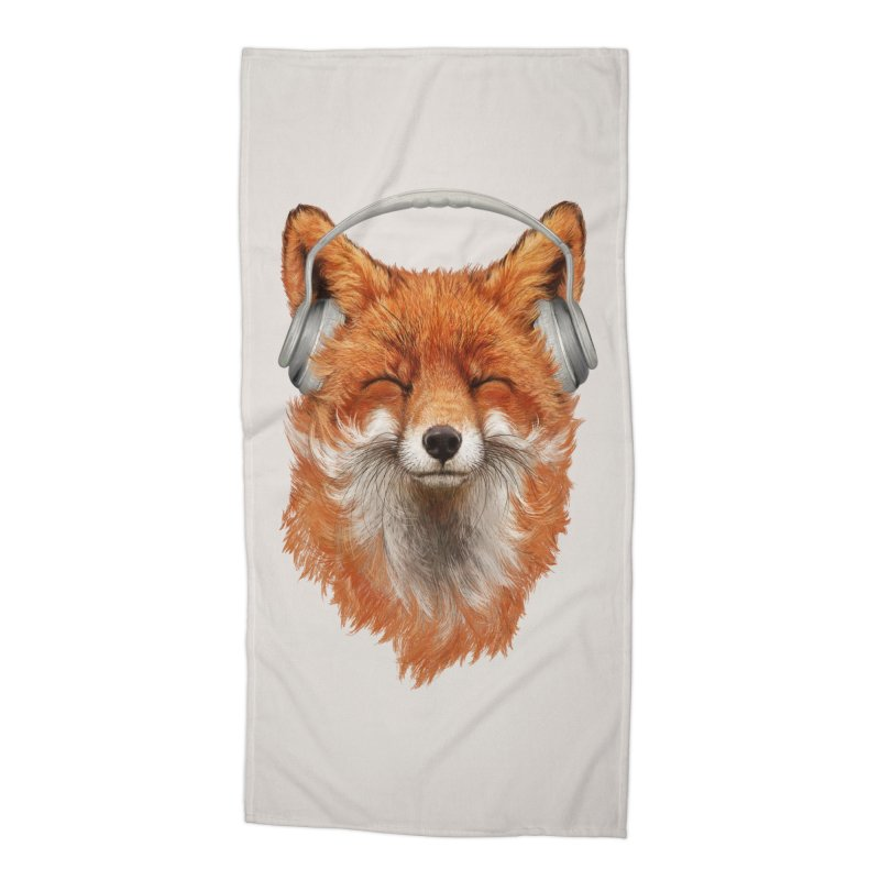 The Musical Fox Accessories Beach Towel by 38 Sunsets