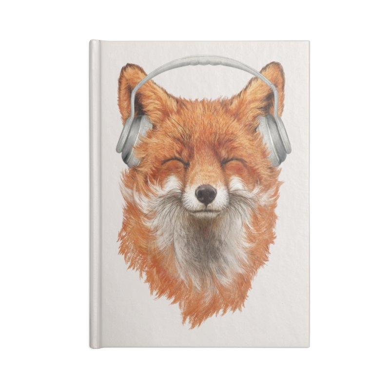 The Musical Fox Accessories Blank Journal Notebook by 38 Sunsets
