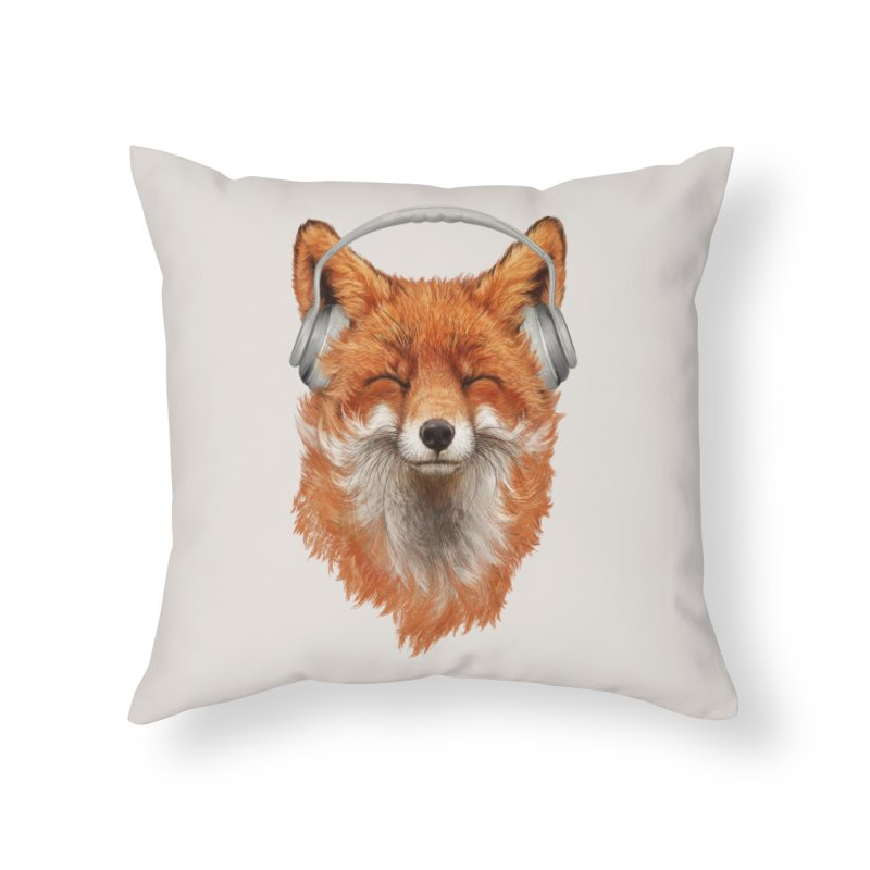 The Musical Fox Home Throw Pillow by 38 Sunsets