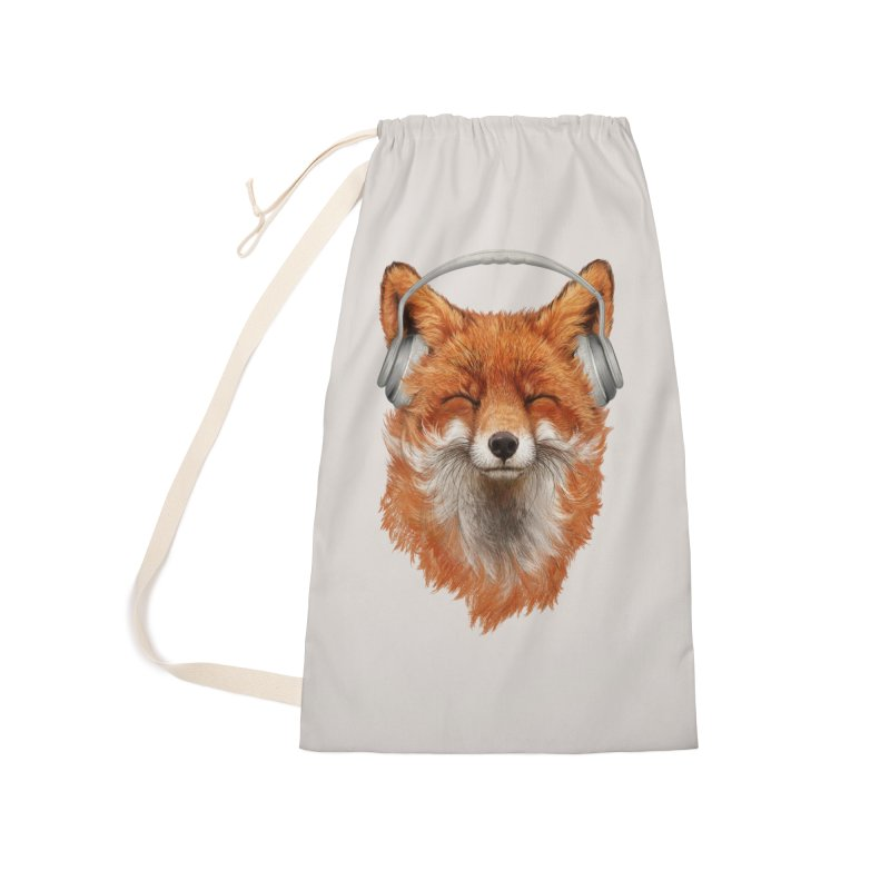 The Musical Fox Accessories Laundry Bag Bag by 38 Sunsets