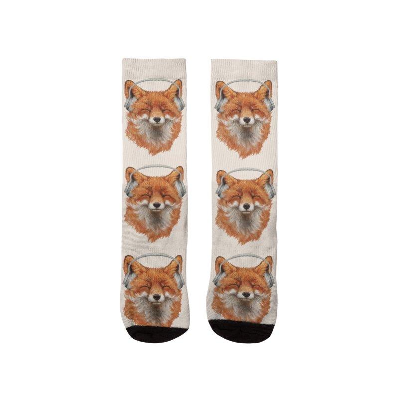 The Musical Fox Men's Socks by 38 Sunsets