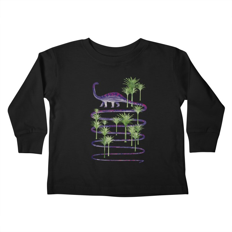 Prehistoric Beauty Kids Toddler Longsleeve T-Shirt by 38 Sunsets