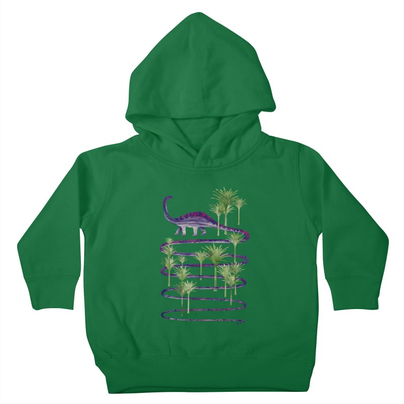 Prehistoric Beauty Kids Toddler Pullover Hoody by 38 Sunsets