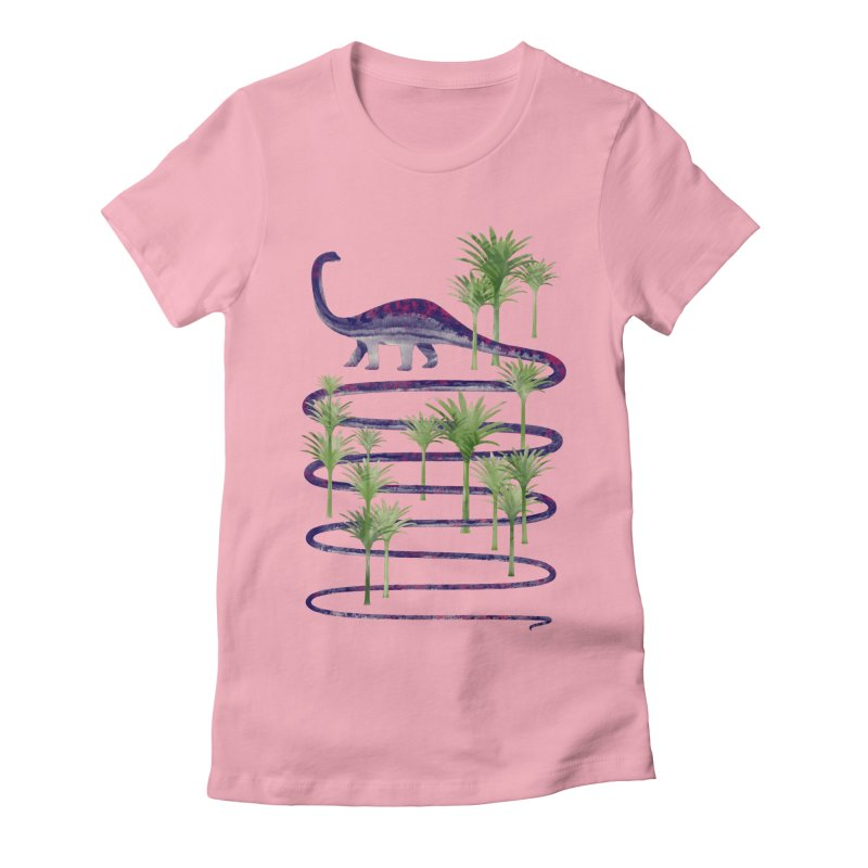 Prehistoric Beauty Women's Fitted T-Shirt by 38 Sunsets