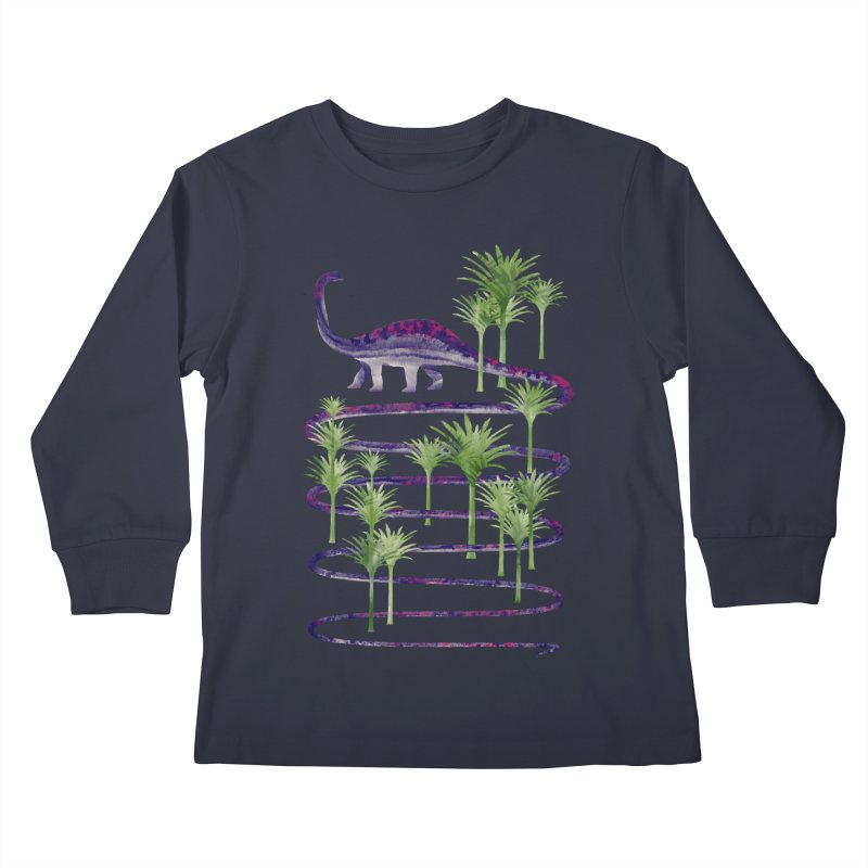 Prehistoric Beauty Kids Longsleeve T-Shirt by 38 Sunsets