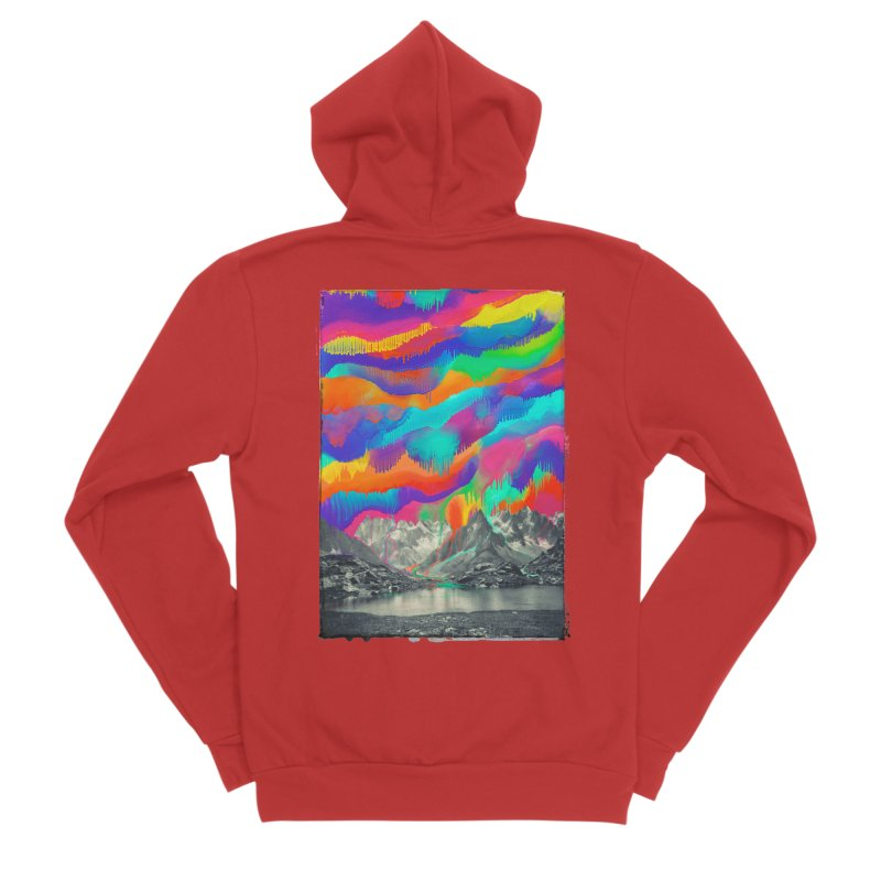 Skyfall, Melting Northern Lights Men's Zip-Up Hoody by 38 Sunsets