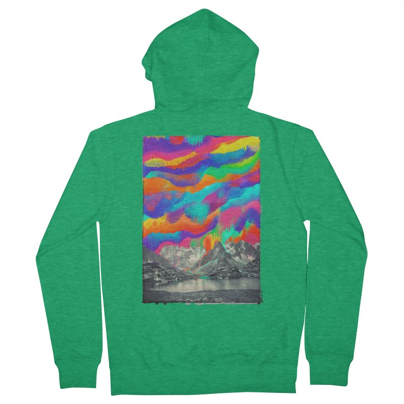 Skyfall, Melting Northern Lights Women's Zip-Up Hoody by 38 Sunsets