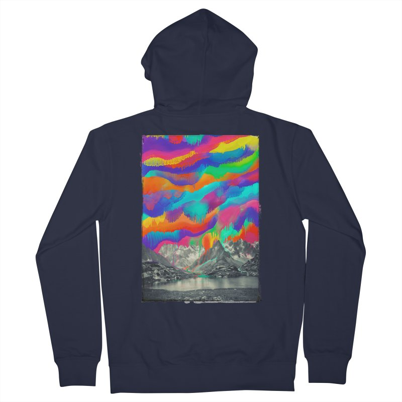 Skyfall, Melting Northern Lights Women's French Terry Zip-Up Hoody by 38 Sunsets