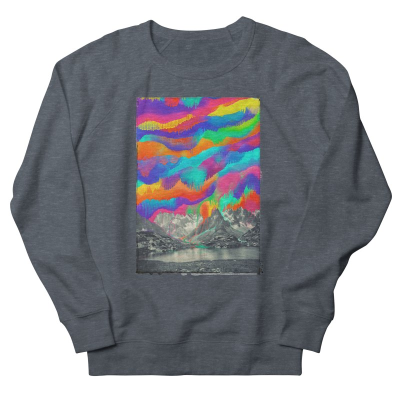 Skyfall, Melting Northern Lights Women's French Terry Sweatshirt by 38 Sunsets