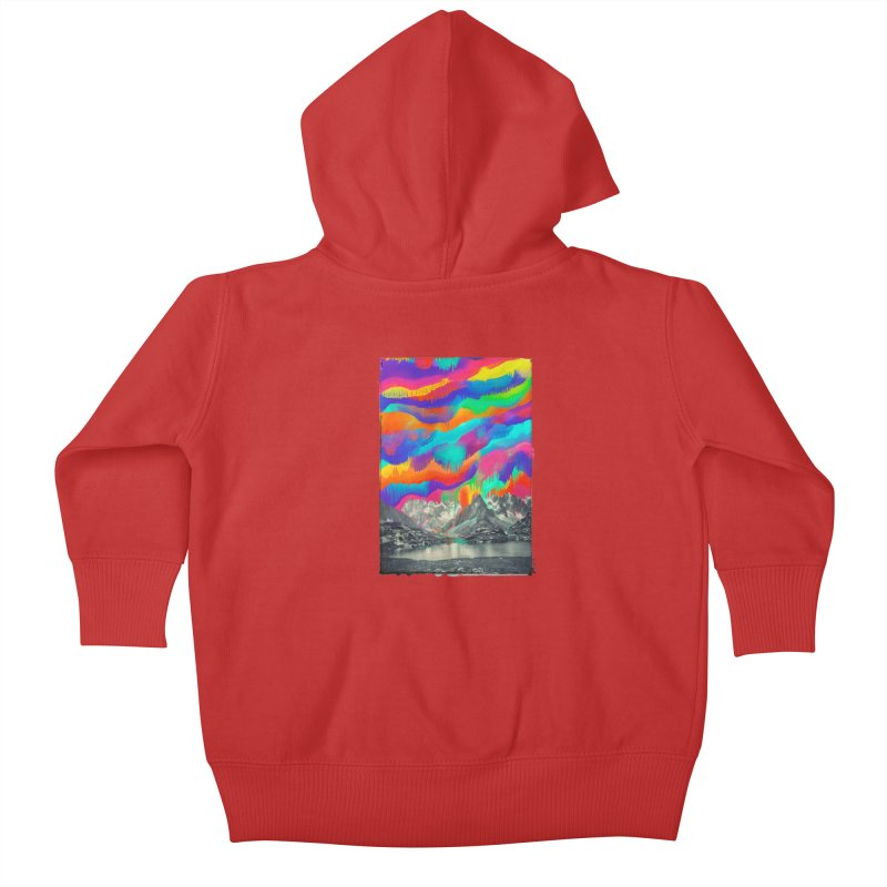 Skyfall, Melting Northern Lights Kids Baby Zip-Up Hoody by 38 Sunsets