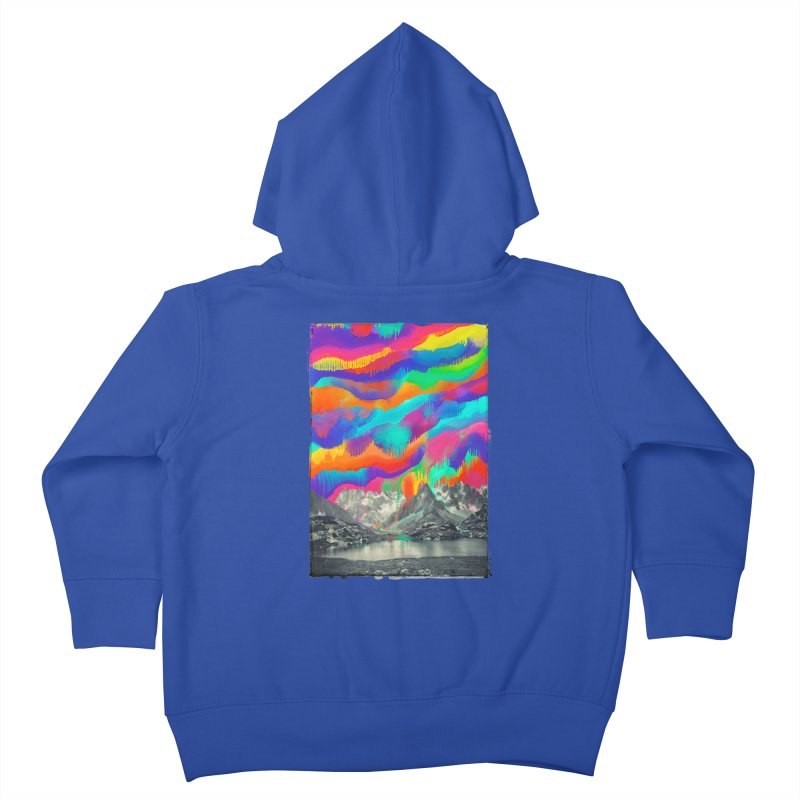 Skyfall, Melting Northern Lights Kids Toddler Zip-Up Hoody by 38 Sunsets