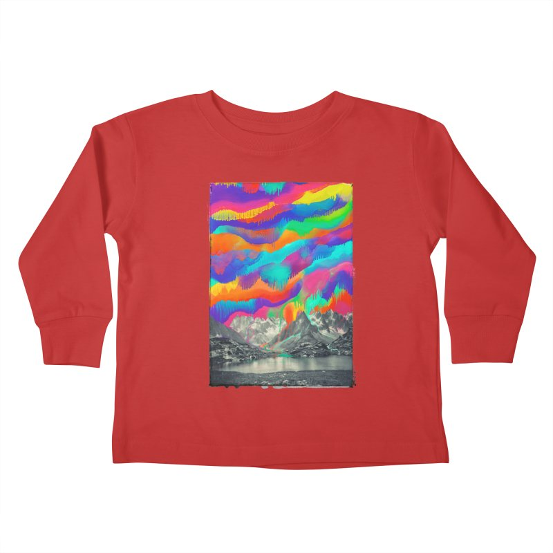 Skyfall, Melting Northern Lights Kids Toddler Longsleeve T-Shirt by 38 Sunsets