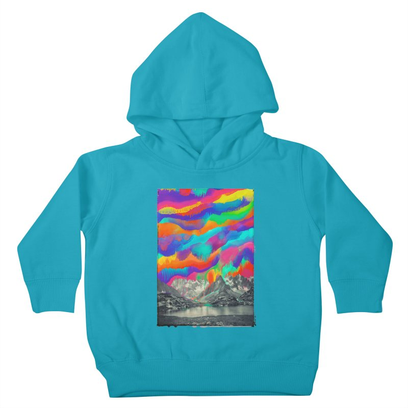 Skyfall, Melting Northern Lights Kids Toddler Pullover Hoody by 38 Sunsets