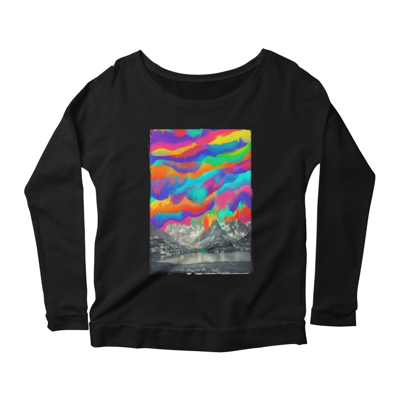Skyfall, Melting Northern Lights Women's Scoop Neck Longsleeve T-Shirt by 38 Sunsets