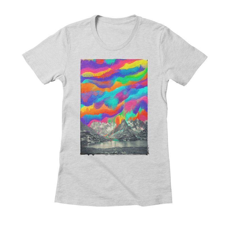 Skyfall, Melting Northern Lights Women's Fitted T-Shirt by 38 Sunsets