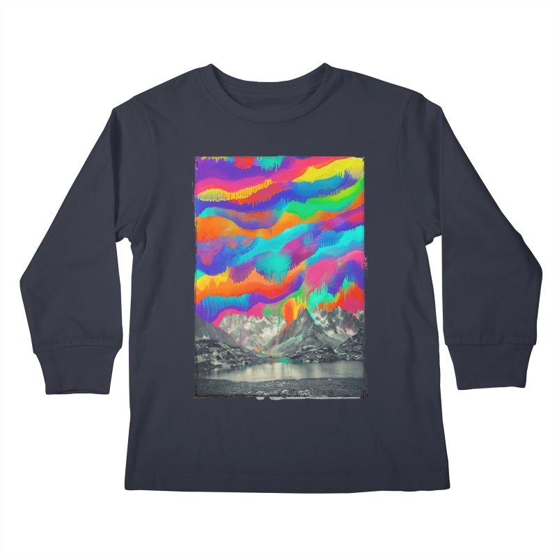 Skyfall, Melting Northern Lights Kids Longsleeve T-Shirt by 38 Sunsets