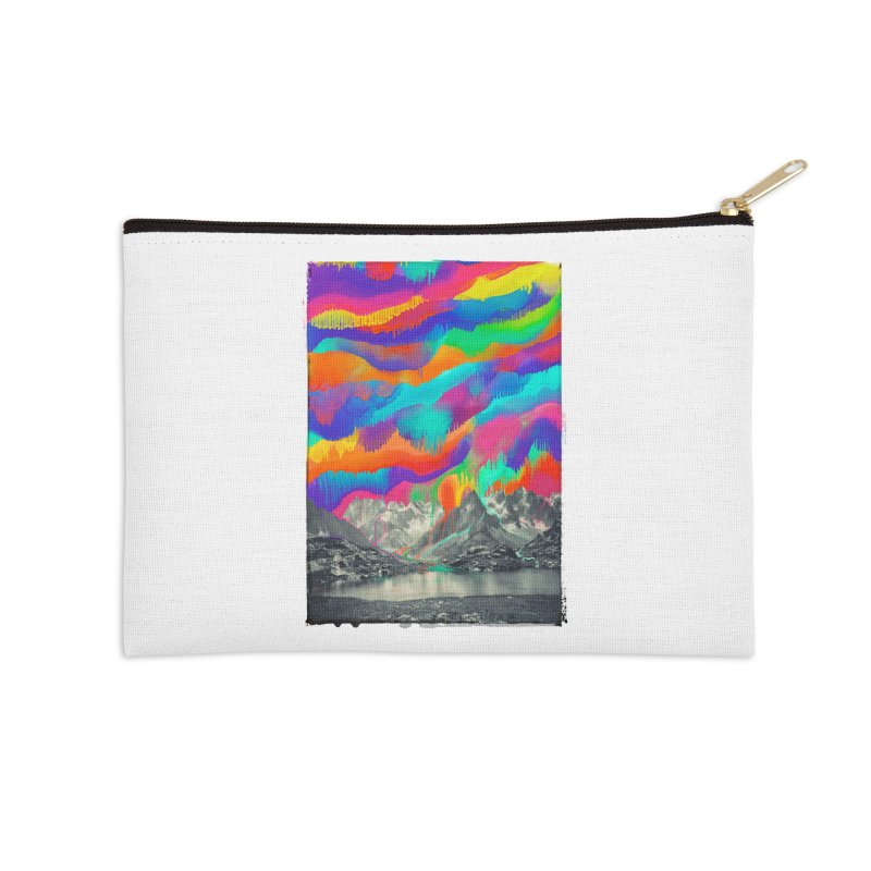 Skyfall, Melting Northern Lights Accessories Zip Pouch by 38 Sunsets