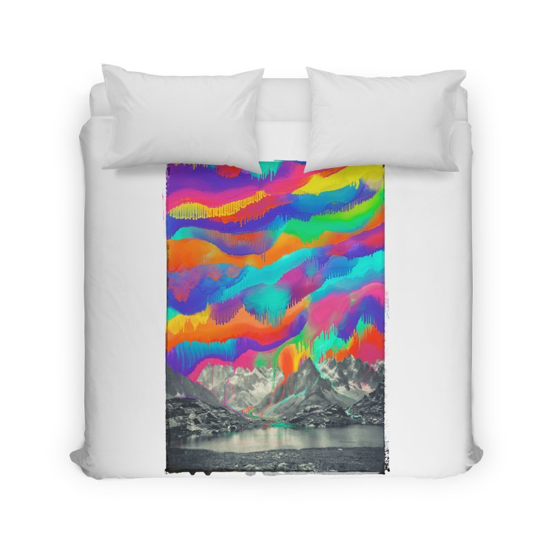 Skyfall, Melting Northern Lights Home Duvet by 38 Sunsets