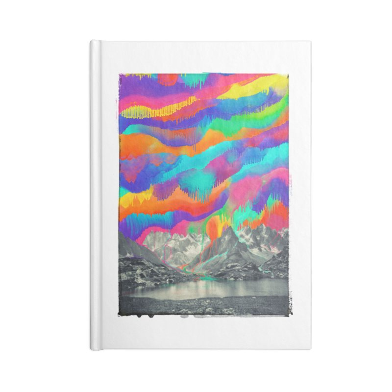 Skyfall, Melting Northern Lights Accessories Blank Journal Notebook by 38 Sunsets