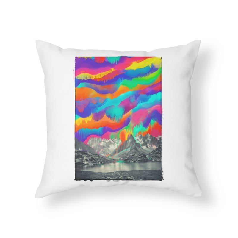 Skyfall, Melting Northern Lights Home Throw Pillow by 38 Sunsets