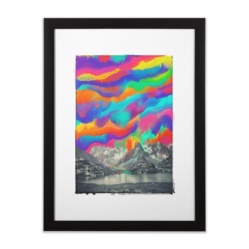 Skyfall, Melting Northern Lights Home Framed Fine Art Print by 38 Sunsets