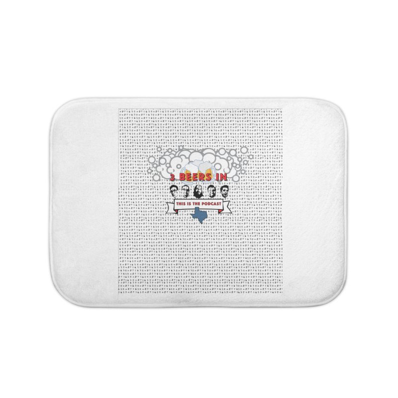 The Faces So Far Home Bath Mat by 3 Beers In's Artist Shop