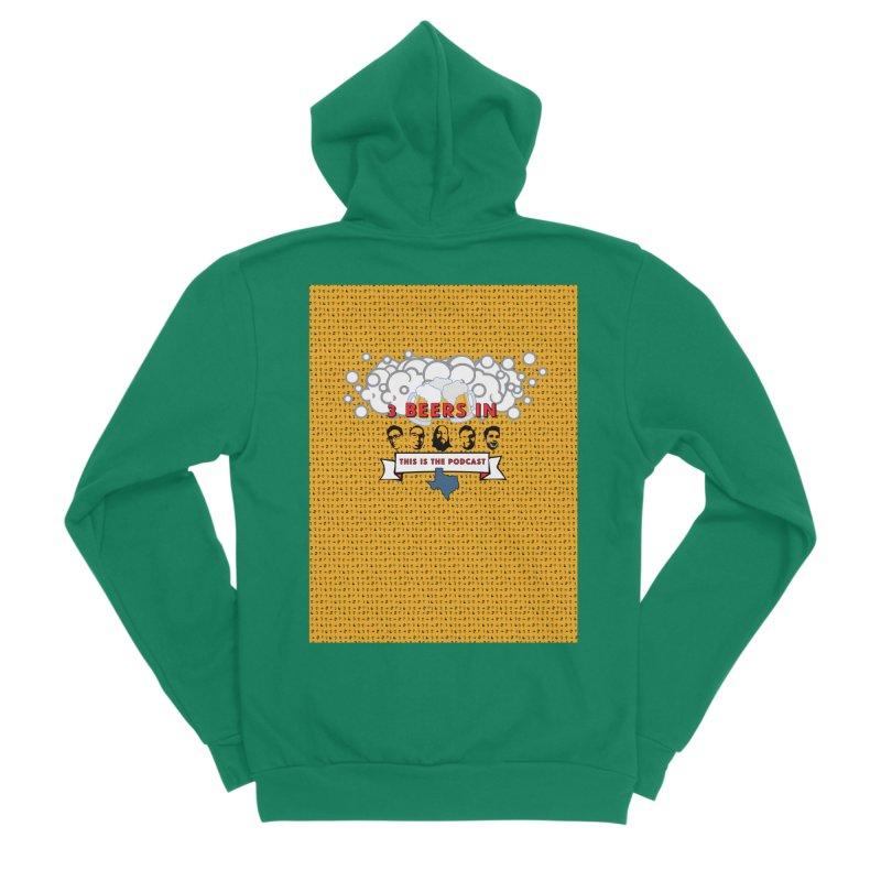 f1ab1e Men's Sponge Fleece Zip-Up Hoody by 3 Beers In's Artist Shop