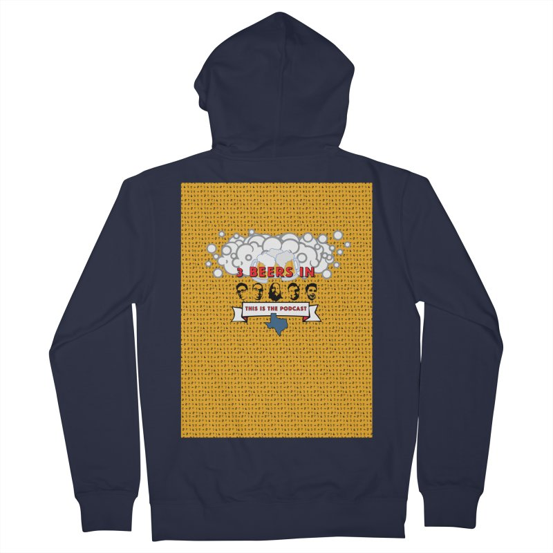 f1ab1e Men's French Terry Zip-Up Hoody by 3 Beers In's Artist Shop